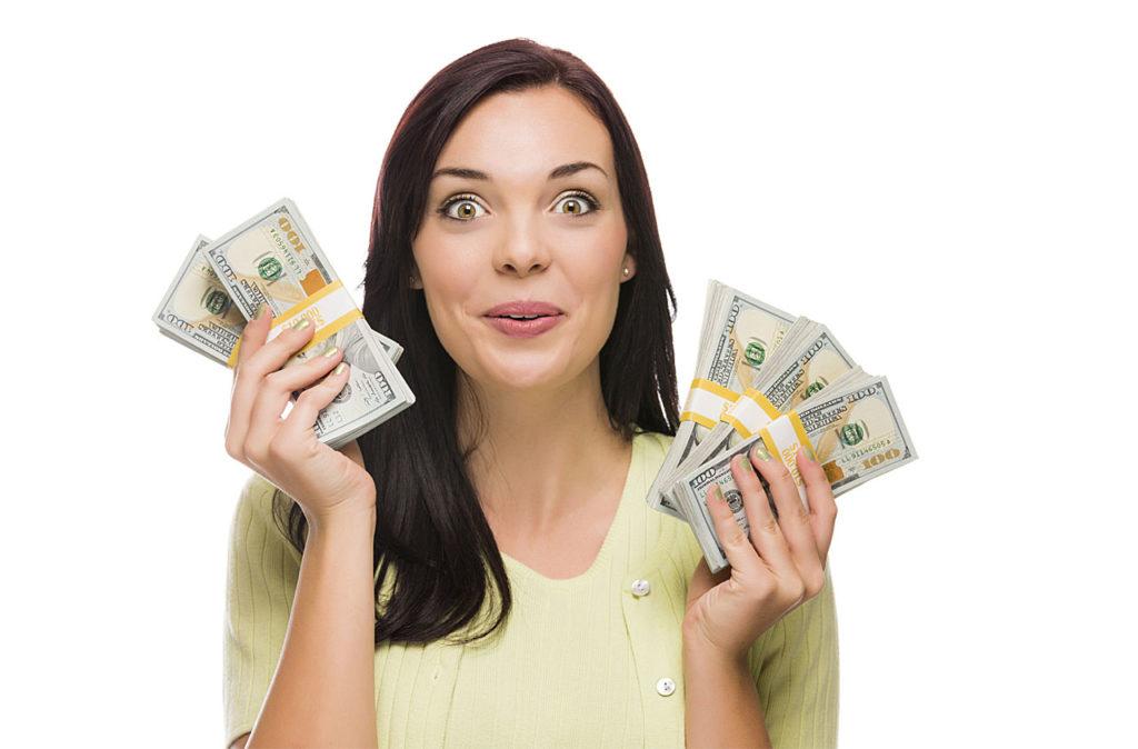 Patient holding dollar bills2