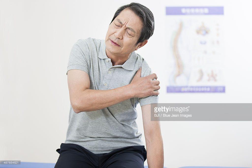 old guy painful shoulder